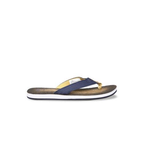 United Colors of Benetton Men Navy Blue Printed Thong Flip-Flops