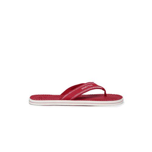 United Colors of Benetton Men Red Flip-Flops