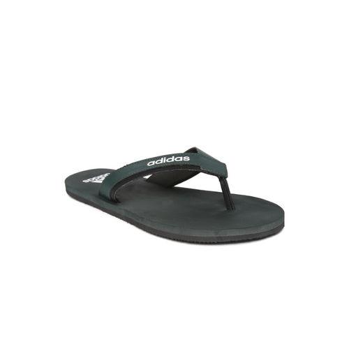 ADIDAS Men Green Toe Side Solid Thong Flip-Flops