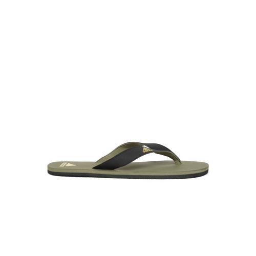 ADIDAS Men Black & Olive green EEZAY Maxout Thong Flip-Flops