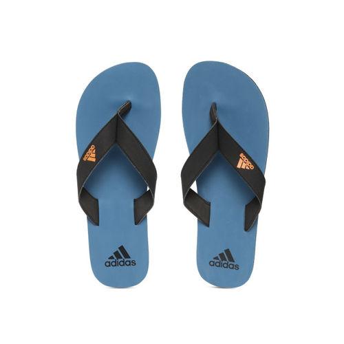 ADIDAS Men Black & Blue EEZAY MAXOUT Solid Thong Flip-Flops