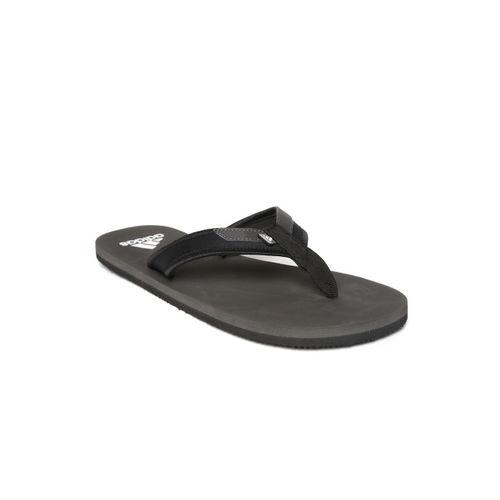 ADIDAS Men Black & Charcoal Grey Rio Attack 2 Thong Flip-Flops