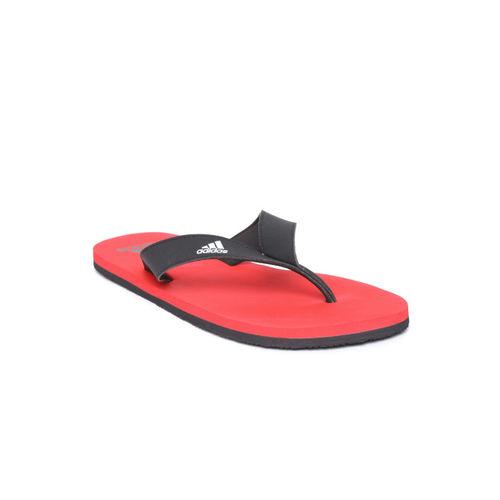 ADIDAS Men Black & Red EEZAY Maxout Thong Flip-Flops