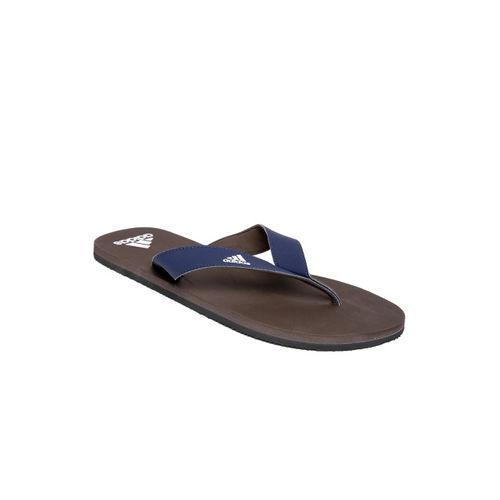 ADIDAS Men Navy & Brown EEZAY Maxout Flip-Flops