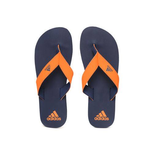 ADIDAS Men Orange & Navy Eezay Maxout Flip-Flops