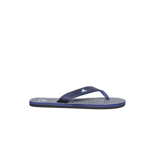 ADIDAS Men Navy & Grey Beach Print Max Out Flip-Flops