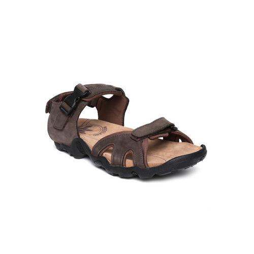 Woodland Men Brown Leather Sports Sandals