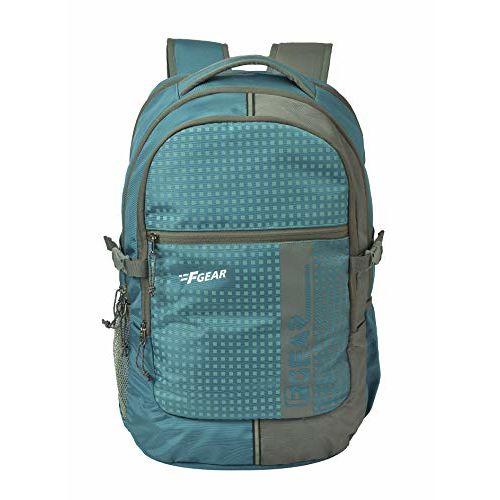 F Gear Blow 32 Ltrs Aqua Blue Gry Laptop Backpack (2932)
