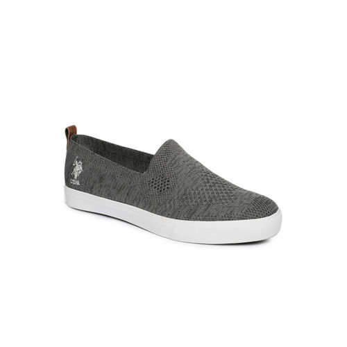 U.S. Polo Assn. Men Grey Slip-On Sneakers