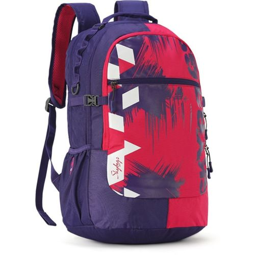 Skybags CREW 06 SCHOOL BAG (E) PURPLE 33 L Laptop Backpack(Purple, Red)