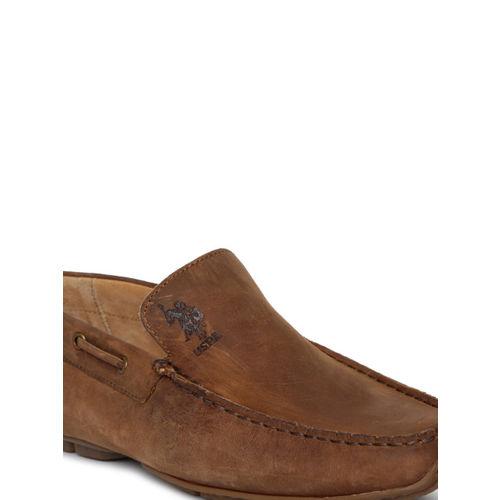 U.S. Polo Assn. Men Brown Boat Shoes