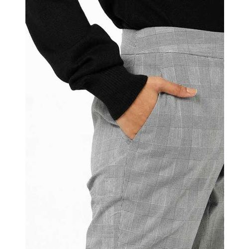 FIG Checked Ankle-Length Trousers