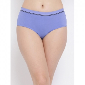 Clovia Women Blue Solid Hipster Brief PN3263P03XL