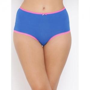 Clovia Women Blue Solid Hipster Brief PN3275P08XL