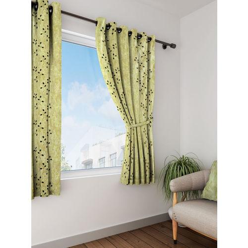 Cortina Set of 2 Window Sheer Printed Curtains