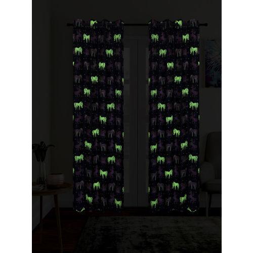 Cortina Purple Set of 2 Glow In the Dark Door Curtains