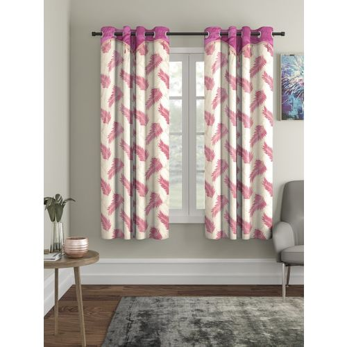 Cortina Pink Set of 2 Window Curtains