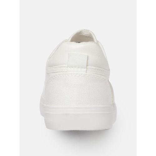 Kook N Keech Men White & Black Sneakers