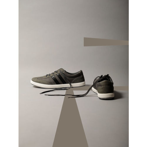 Buy LOCOMOTIVE Men Grey Sneakers online
