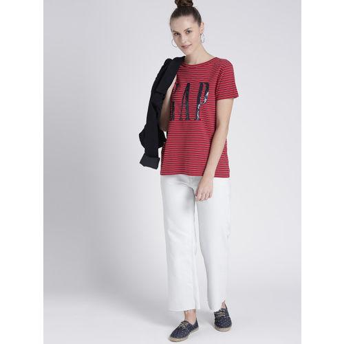GAP Women's Stripe Crewneck T-Shirt