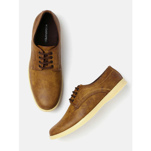 Moda Rapido Men Tan Brown Casual Shoes