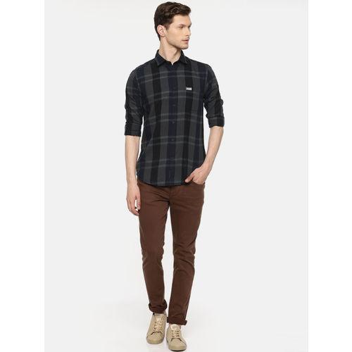 U.S. Polo Assn. Denim Co. Men Black & Grey Checked Casual Shirt
