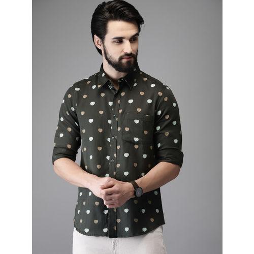 Anouk Men Black Printed Regular Fit Casual Shirt