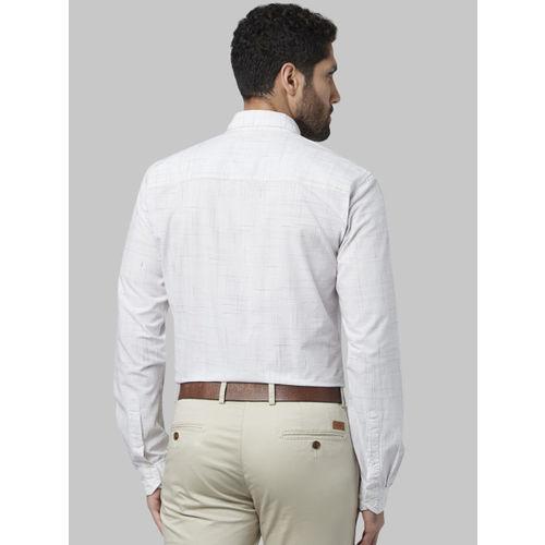 Park Avenue Men Black Slim Fit Self Design Casual Shirt