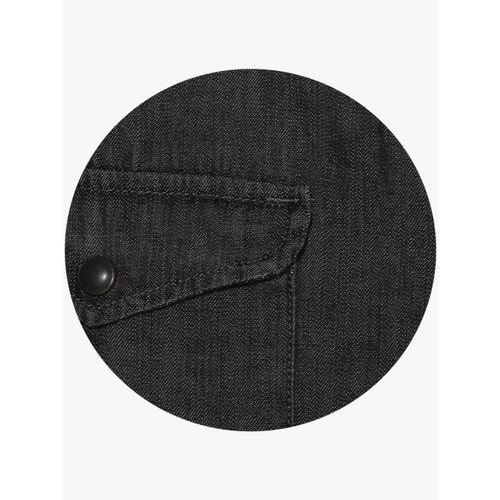 Celio Black Regular Fit Faded Casual Shirt