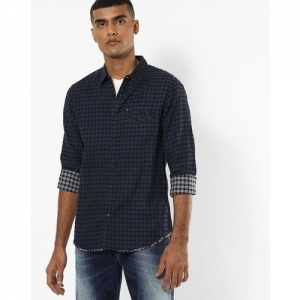 SPYKAR Checked Slim Fit Cotton Shirt with Welt Pocket
