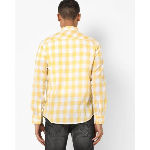 SPYKAR Checked Slim Fit Shirt with Patch Pocket