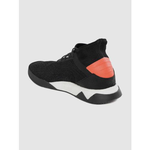 ADIDAS Men Black Predator 19.1 TR Woven Design Mid-Top Football Shoes
