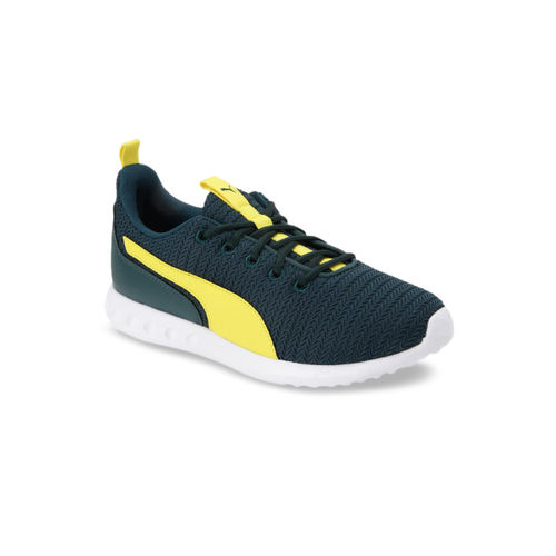 Puma Men Yellow Textile Running Shoes