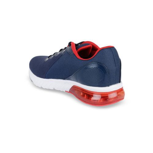 Campus Men Navy Blue & Red Mesh Running Shoes