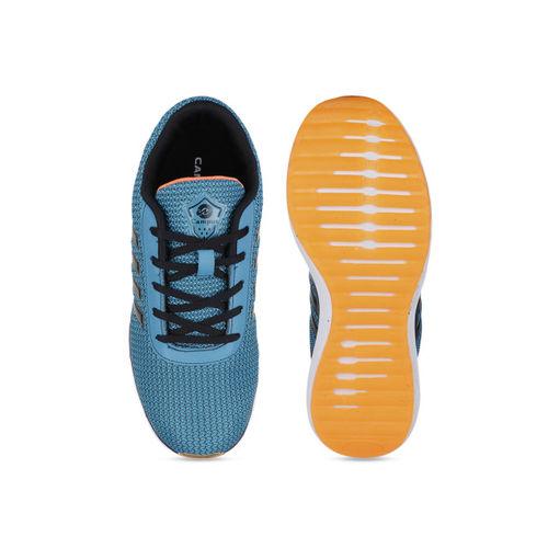 Campus Men Blue & Black Mesh Running Shoes
