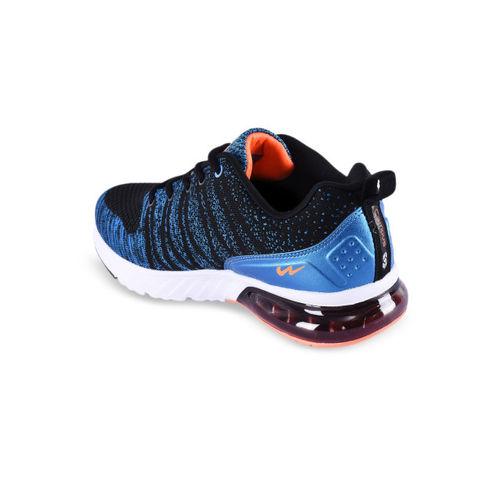 Campus Men Black Running Shoes