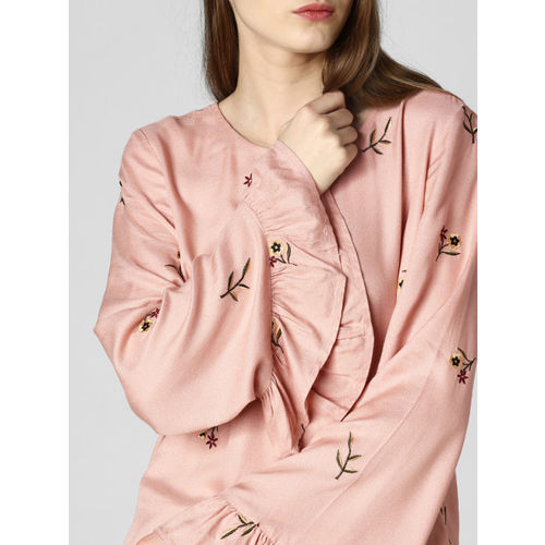 Vero Moda Women Pink Self Design A-Line Top