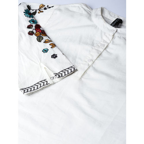 Moda Rapido Women White Solid Shirt Style Top