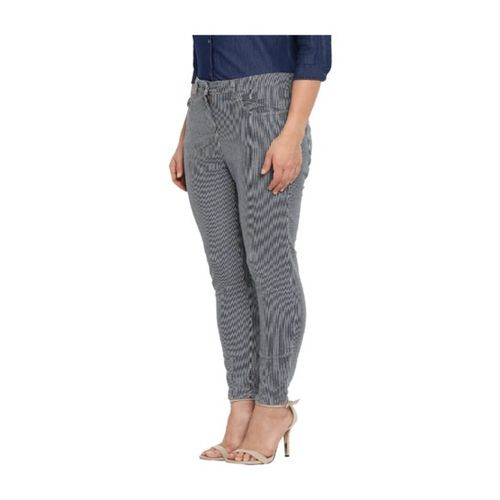 Park Avenue Blue Slim Fit Printed Jeans