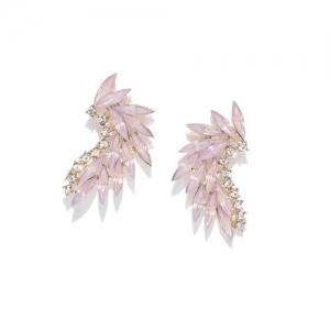 DressBerry Pink Stone Studded Contemporary Ear Cuff