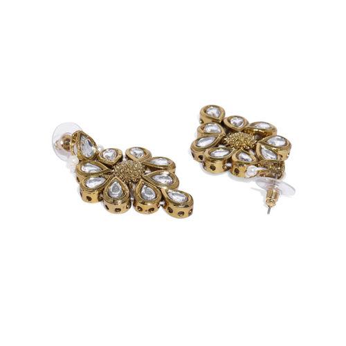 Zaveri Pearls Gold Toned Traditional Kundan Jewellery Set