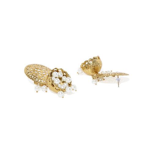 Zaveri Pearls Antique Gold-Toned Choker Jewellery Set