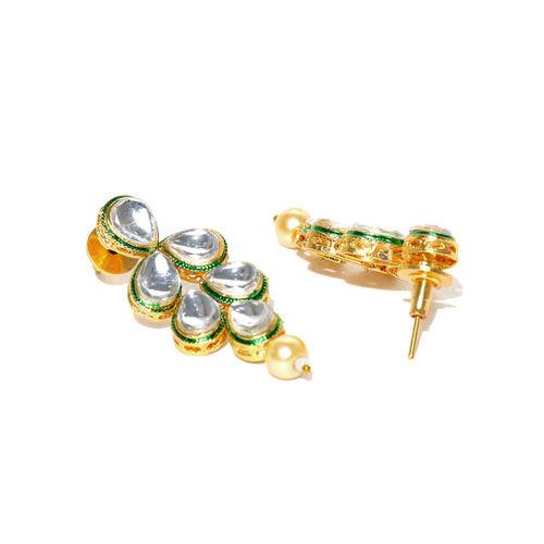 Zaveri Pearls Zaver Pearls Gold-Toned Kundan Jewellery Set