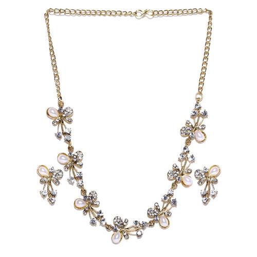 Zaveri Pearls Gold-Toned & Off-White Jewellery Set