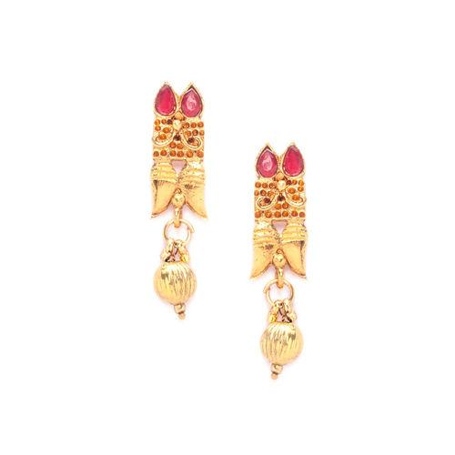 Rubans Women Gold-Toned Handcrafted Kundan-Studded Jewellery Set