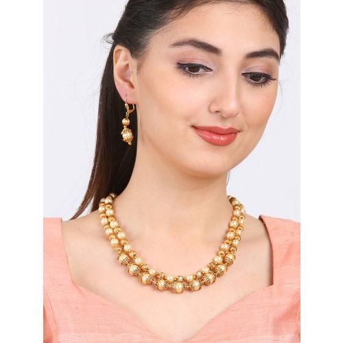Rubans Women Gold-Toned Gold-Plated Jewellery Set