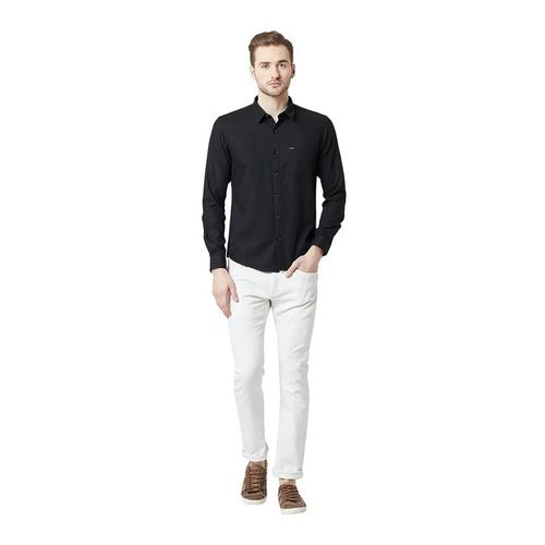 Spykar Black Slim Fit Shirt
