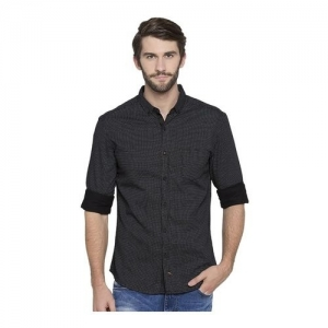 Spykar Black Slim Fit Printed Shirt