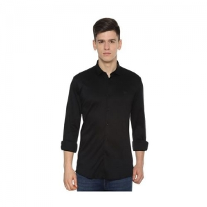 Allen Solly Black Slim Fit Cotton Shirt