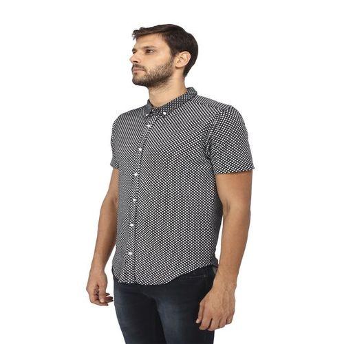 Provogue Black Half Sleeves Shirt